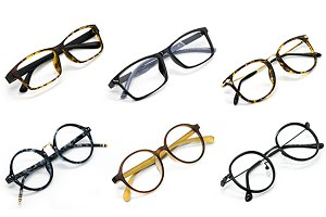 Modern fashionable spectacles.