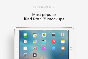 "Most popular iPad Pro 9.7"" mockups"