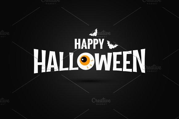 Happy Halloween logo ~ Illustrations ~ Creative Market