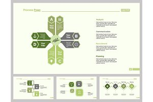 Four Business Idea Slide Template Set