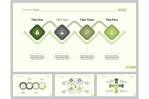 Four Business Process Slide Template Set
