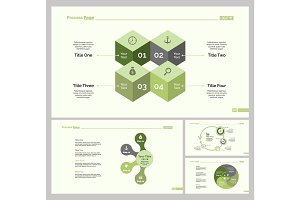 Four Infographic Design Slide Template Set