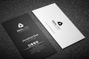 Vertical Elegant Business Card
