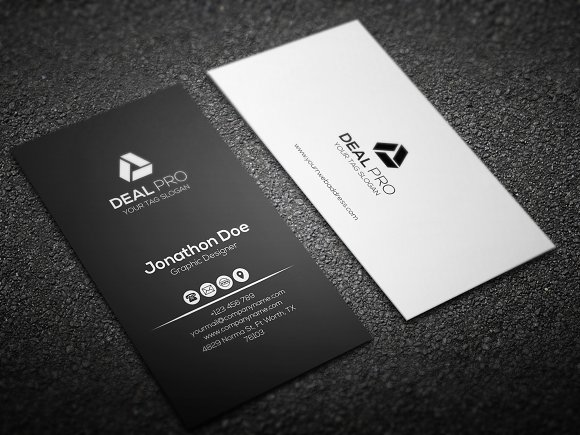 Vertical Elegant Business Card Business Card Templates Creative