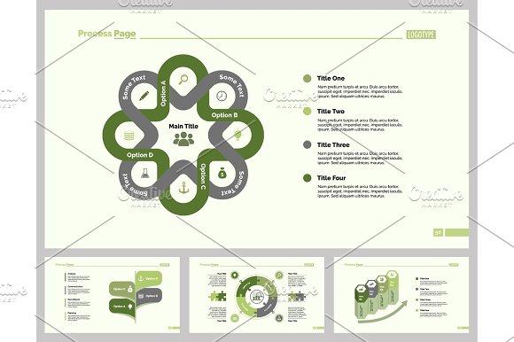 Four Marketing Slide Template Set