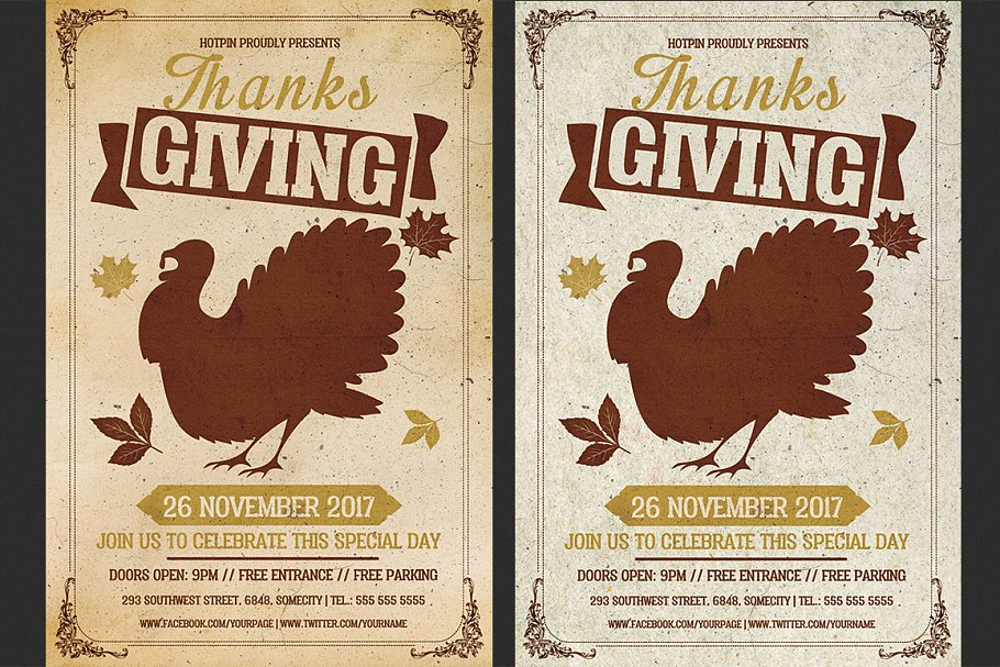 Thanksgiving Flyer Template Flyer Templates Creative Market Pro