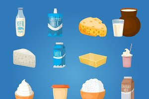 Milk Food Icon Set