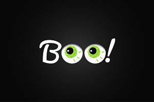 Boo. Halloween lettering.