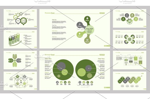 Ten Accounting Slide Template Set in Illustrations