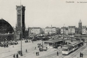 train station Ostend, Belgium, 1910