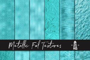 Aqua Metallic Foil Textures