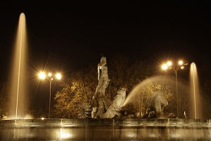 The fountain of Neptuno, Madrid