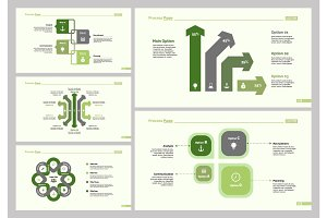 Five Business Slide Templates Set