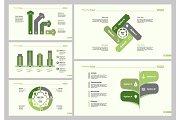Five Management Slide Templates Set