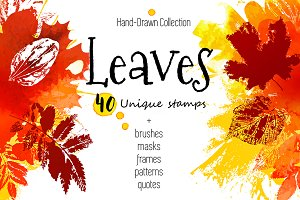 Stamped Leaves Set