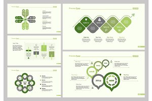 Five Planning Slide Templates Set