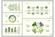 Five Strategy Slide Templates Set