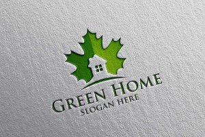 Green Home, Real estate logo