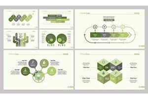 Seven Research Slide Templates Set