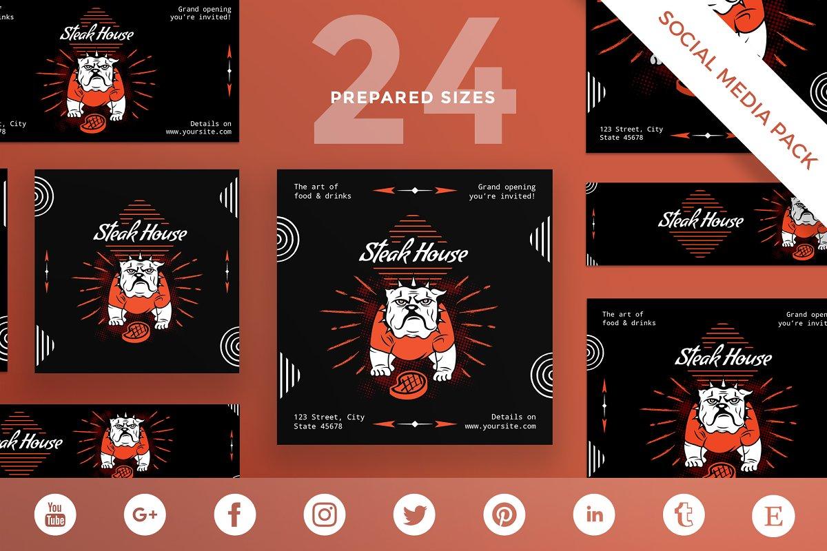 Social Media Pack | Steak House