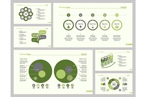 Six Statistic Slide Templates Set