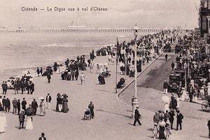 Ostend, beach promenade, 1910