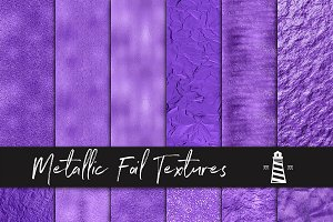 Violet Metallic Foil Textures