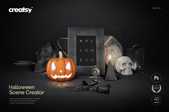Halloween Scene Creator ~ Product Mockups ~ Creative Market