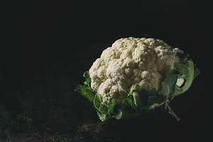 White organic cauliflower