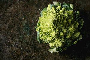 Organic cabbage romanesco