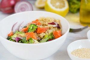 Healthy salad with broccoli