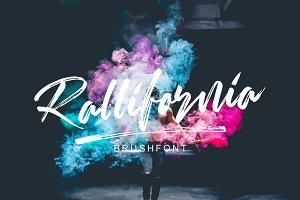 Rallifornia Brush Font