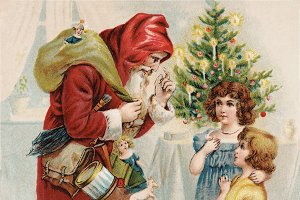 Santa speaking to Children