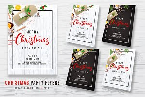 Christmas Party Invitation Flyers