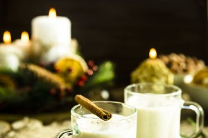 warming milk alcoholic drink on Christmas Eve