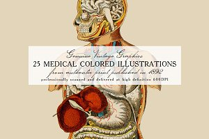 25 Medical Colored Illustrations