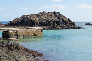 Lobos Island pier