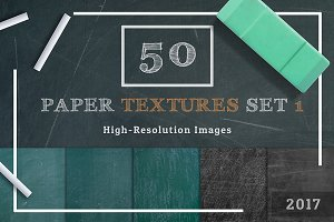 50 Chalkboard Texture Set 1