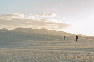Exploring the dunes of Corralejo.