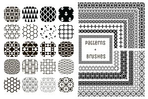 20 Patterns + 11 Pattern Brushes