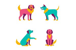 Cartoon dogs characters