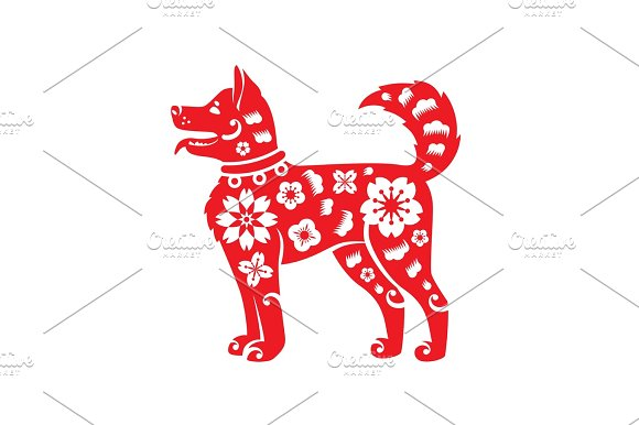 chinese new year symbol 2018 year of dog illustrations - Chinese New Year Symbols