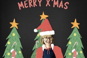 Kids Christmas Concept