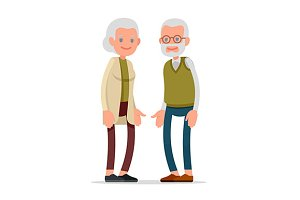 Elderly senior age couple