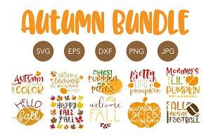 Autumn SVG Bundle Fall SVG Cut Files