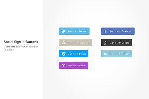 Social Sign In Buttons