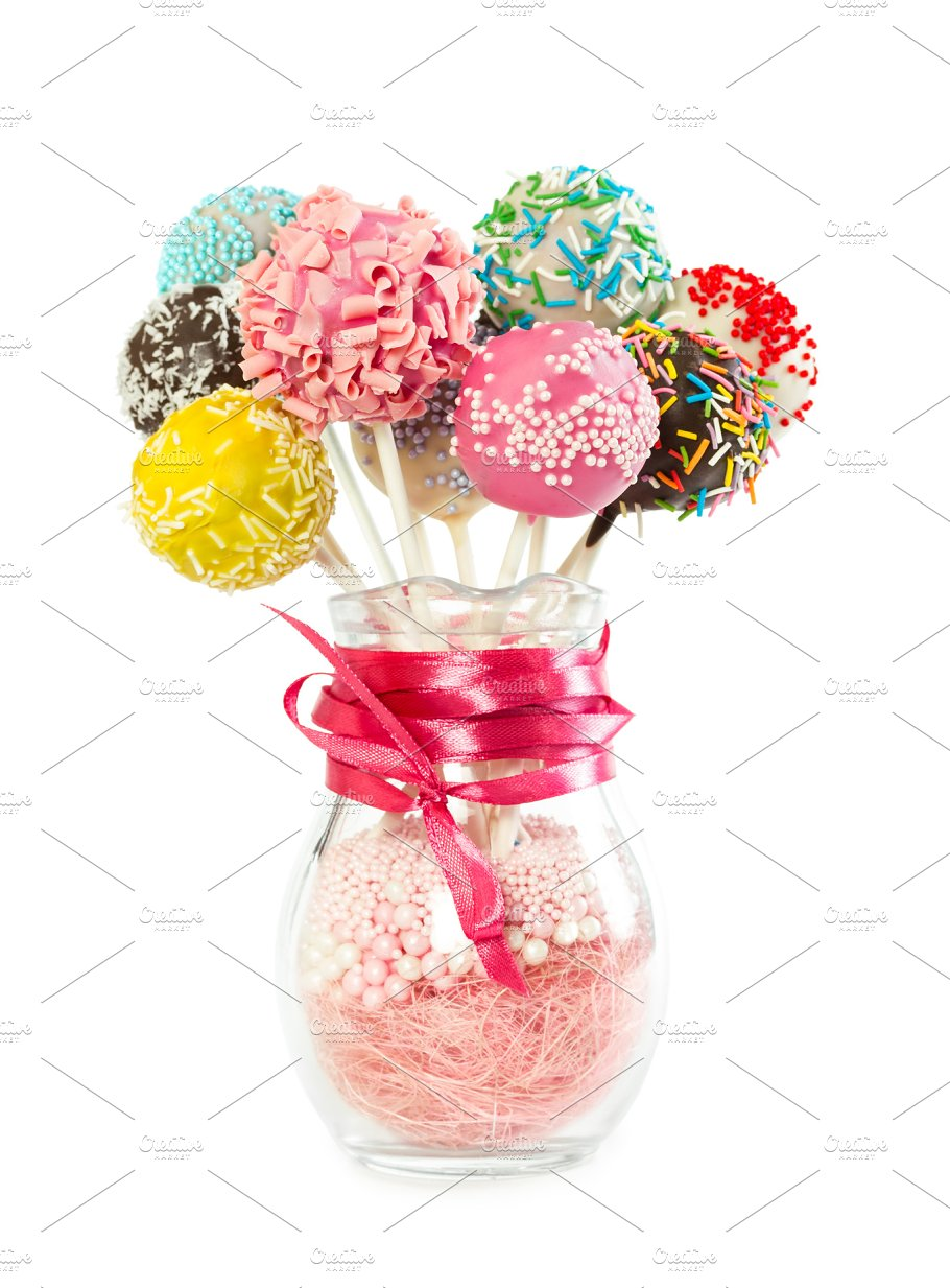 Colorfull cake pops food images creative market colorfull cake pops food drink izmirmasajfo