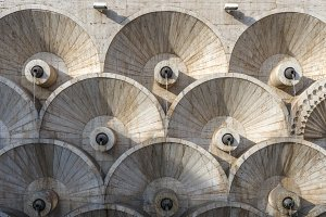 Yerevan cascade abstract architectural pattern in Armenia