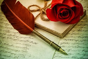 Red Rose and Old Love Letters