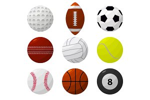 Sport Ball Set for Different Game